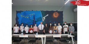 """ATSU Students Awarded Certificates After Finishing British Council-funded Project """"CREATIVE SPARK ENGLISH CLUB"""""""